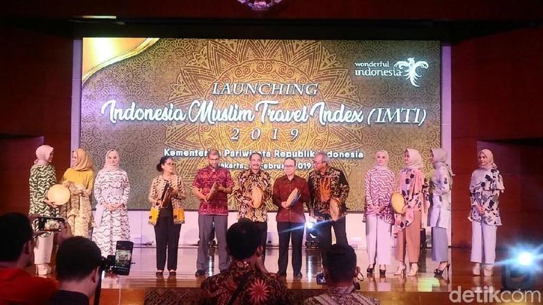 Suasana peluncuran Indonesia Muslim Travel Index (IMTI) di Kemenpar (Randy/detikTravel)