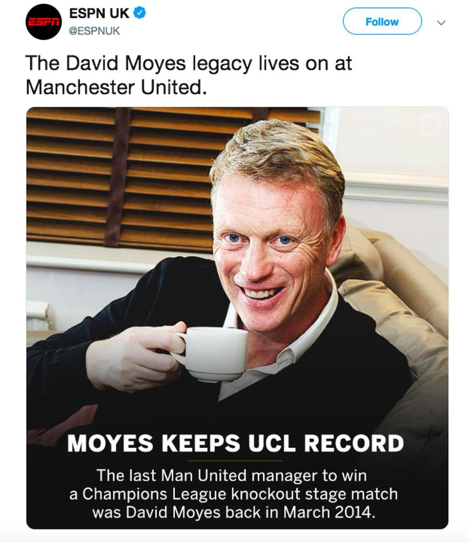 Dengan kekalahan semalam, masih David Moyes yang bisa meraih kemenangan bagi MU di baback knock out pasca Alex Ferguson. Foto: istimewa