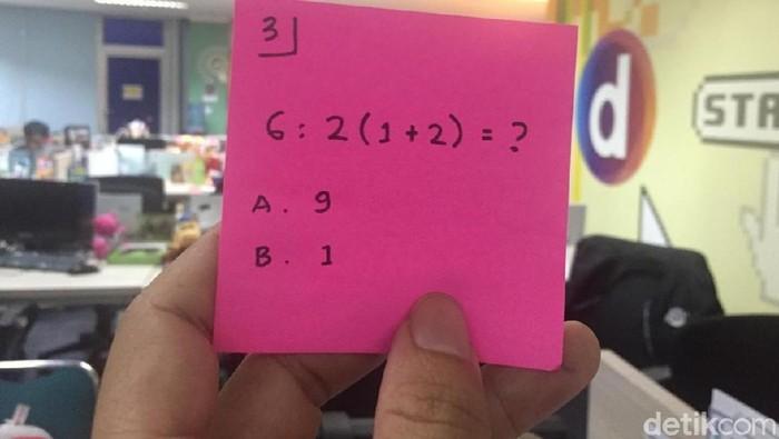 Bisakah memecahkan perhitungan ini dengan tepat? (Foto: detikHealth)