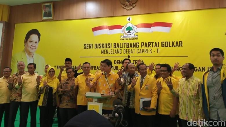 Golkar Bantu Siapkan Materi Debat Capres untuk Jokowi