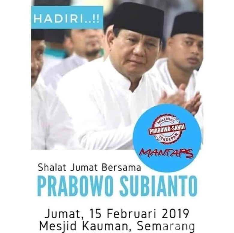 Takmir: Pamflet Jumatan Prabowo Banyak Ditempel di Kauman Semarang