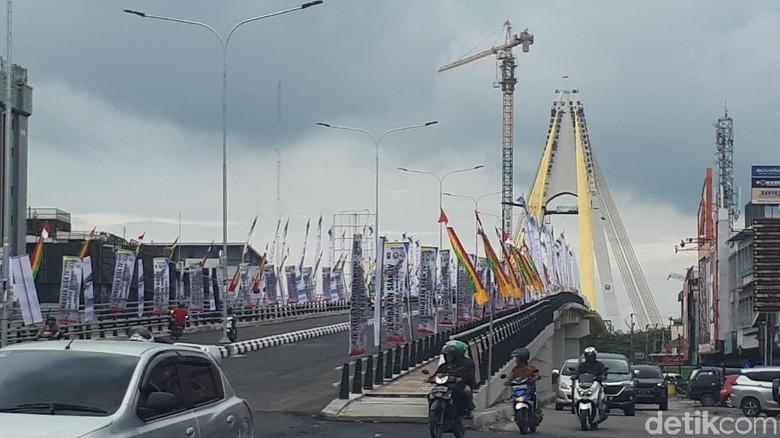 Resmikan Jembatan dan 2 Flyover, Gubernur Riau Harap Bisa Urai Macet