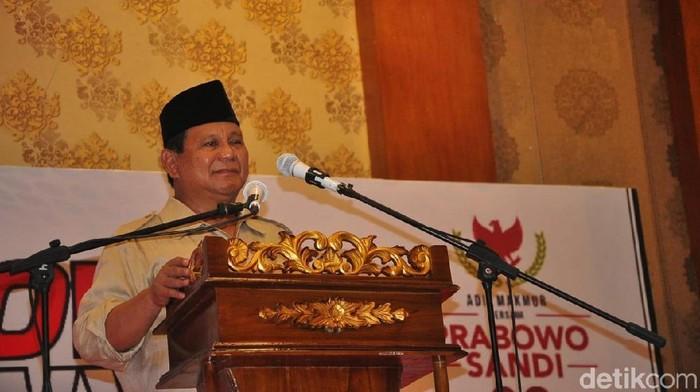 Foto: Prabowo Subianto (Akrom Hazami/detikcom)