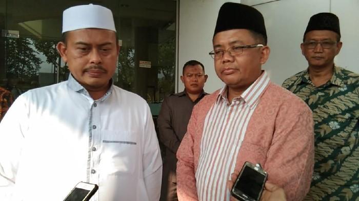 Slamet Maarif saat menemui Presiden PKS Sohibul Iman. (M Guruh Nuary/detikcom)