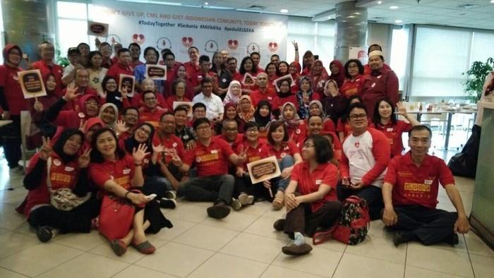 Komunitas pejuang dan penyintas kanker darah leukemia (Foto: dok. ELGEKA)