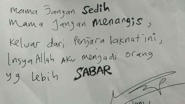 Ahmad Dhani Tulis Surat di Tahanan: Mama Jangan Sedih dan Menangis