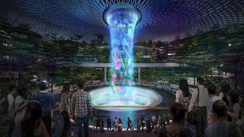 Air Terjun Indoor Tertinggi Sedunia Siap Dibuka Sebentar Lagi