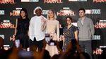 Senyum Manis dan Tawa Brie Larson bersama Cast Captain Marvel