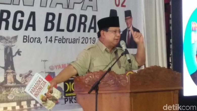 Pamer Buku Paradoks Indonesia, Prabowo Sentil Elite Pintar Bohong