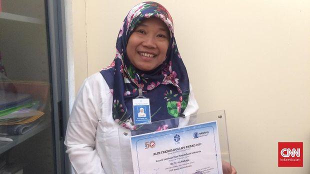 Peneliti Pusat Konservasi Tumbuhan Kebun Raya Bogor LIPI Sri Rahayu.