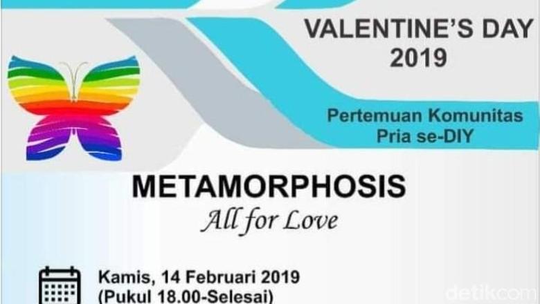 Acara Valentine Komunitas Pria se-DIY Akhirnya Dibatalkan