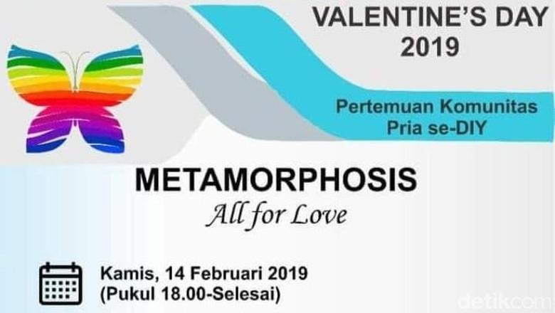 Geger Agenda Valentine Komunitas Pria Diduga Acara Gay di Sleman