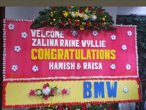 Zalina Raine Wyllie Nama Putri Raisa dan Hamish Daud