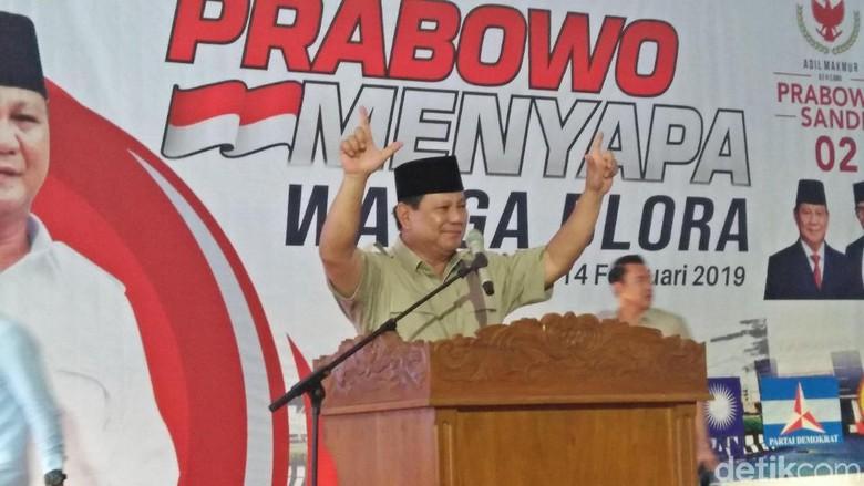 Prabowo: Wartawan yang Gajinya Kecil Pasti ke 02