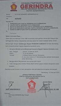 Bantah Sebar Pamflet, Gerindra Minta Kader Salat Bareng Prabowo di Semarang