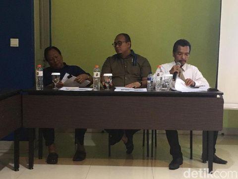 Rilis survei Indomatrik terkait elektabilitas capres/cawapres, Jumat (14/2).