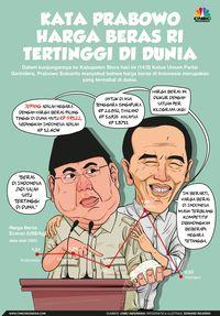 Senjata Prabowo Hajar Jokowi di Debat Capres: Impor Beras!