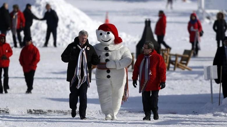 Salju di Quebec, Kanada (REUTERS/Mathieu Belanger)