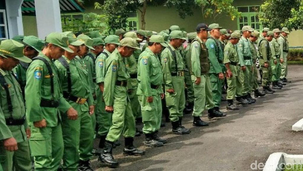 Ribuan Hansip Gaek Diterjunkan Kawal Pemilu 2019 di Ciamis
