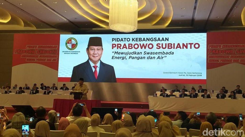 Prabowo: Banyak Uang Milik Orang Indonesia di Luar daripada di Dalam