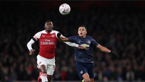 Alexis Sanchez cetak satu gol ke gawang Arsenal di Piala FA.