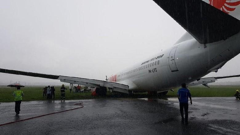 Lion Air yang Tergelincir di Pontianak Sudah Dievakuasi