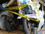Polisi Semarang Sita Korek di TKP 2 Motor Dibakar Orang Misterius