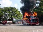 Api Menyala-nyala, Lahap Habis Bus Eksekutif Agra Mas