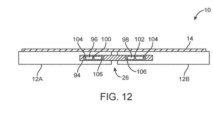 Sketsa yang menampilkan desain ponsel layar lipat Apple. Foto: Istimewa