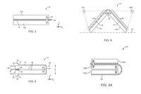 Deretan sketsa yang menggambarkan desain ponsel layar lipat Apple.