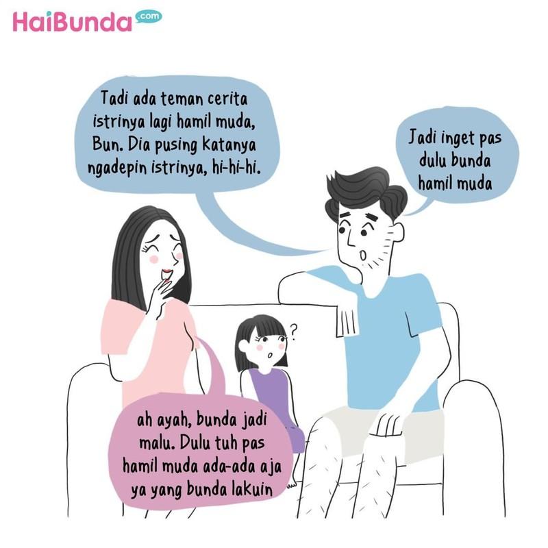 Beginilah pengalaman Bunda di komik ini saat hamil muda. Kalau pengalaman Bunda saat hamil muda gimana? Share yuk, Bun, di kolom komentar.