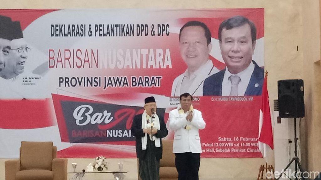 Optimis Menang, Maruf Amin Targetkan 70 Persen Suara di Jawa Barat
