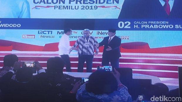 Live Report Debat Pilpres 2019: Jokowi dan Prabowo Naik Panggung