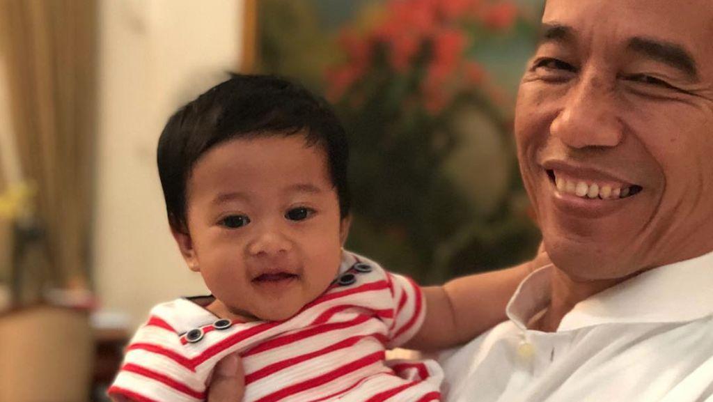 Momen Seru dan Mengasyikkan Jokowi Momong Sedah Mirah