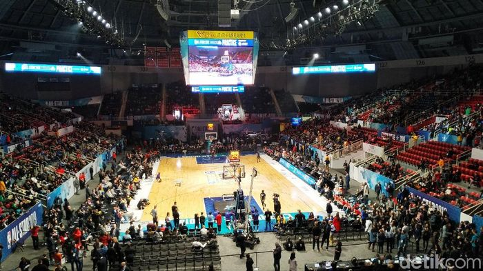 Suasana latihan NBA All Star 2019. (Foto: Okdwitya Karinasari/Detikcom)
