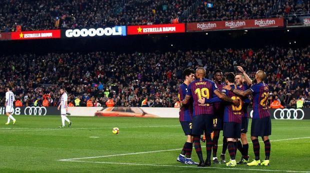 Barcelona menang tipis 1-0 berkat gol penalti Lionel Messi.