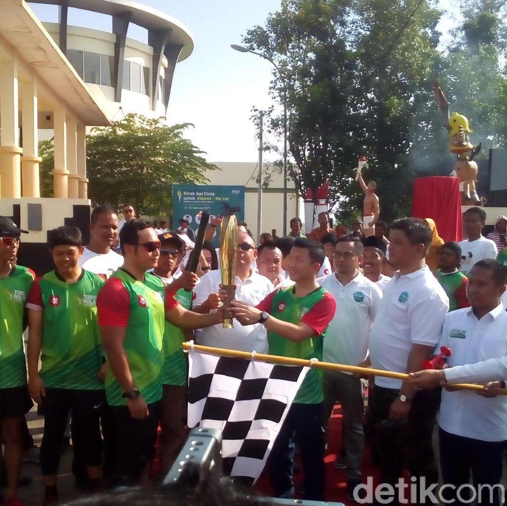 15 Kota di Jateng Bakal Dilewati Api Kirab Cinta Jokowi-Maruf