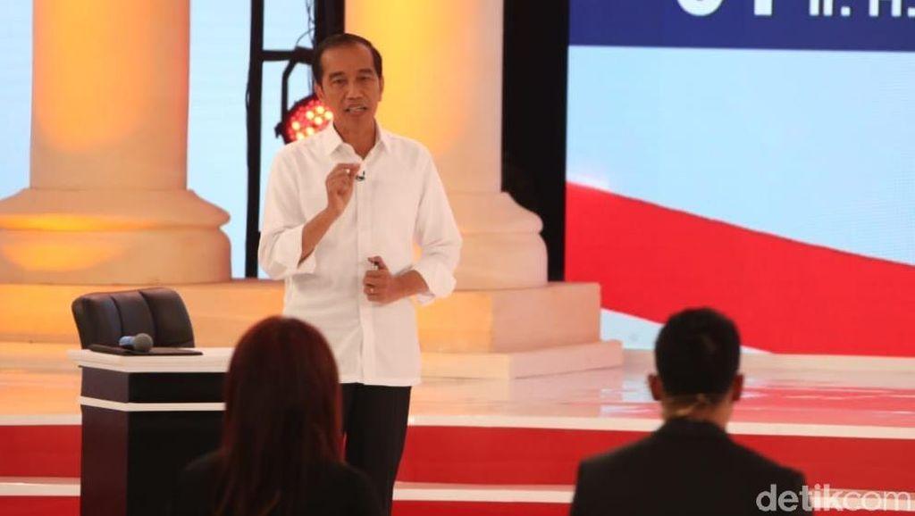 Jokowi Tangkis Serangan Prabowo soal Infrastruktur