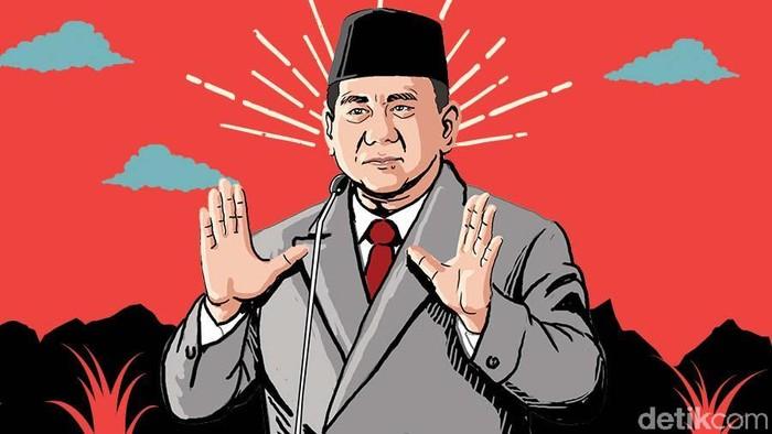Ilustrasi Prabowo Subianto (Foto: Kiagoos Auliansyah)