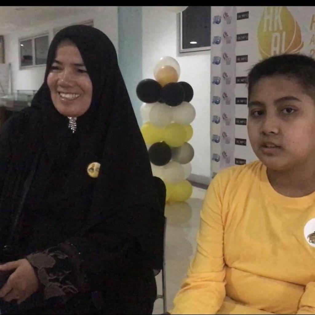 Pesan Anak Kanker di Padang ke Ibu Ani: Kita Bisa Melewatinya Bersama