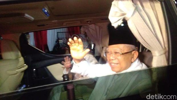 Ma'ruf Amin berangkat ke lokasi debat /