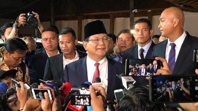 Foto: Prabowo Subianto. (Ray Jordan/detikcom).