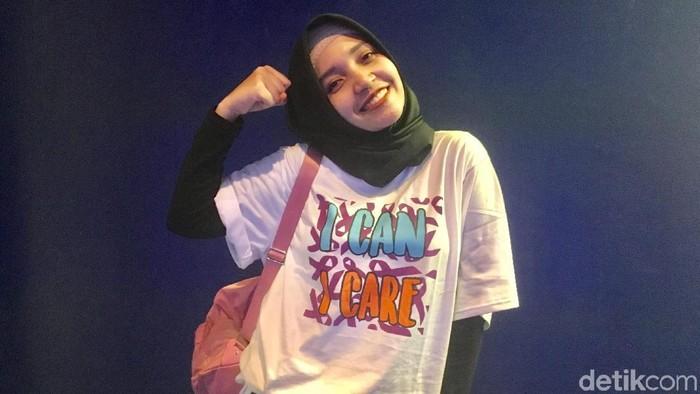 Intan Khasanah, survivor kanker yang pernah ketemu Lisa Blackpink (Foto: Frieda Isyana Putri/detikHealth)