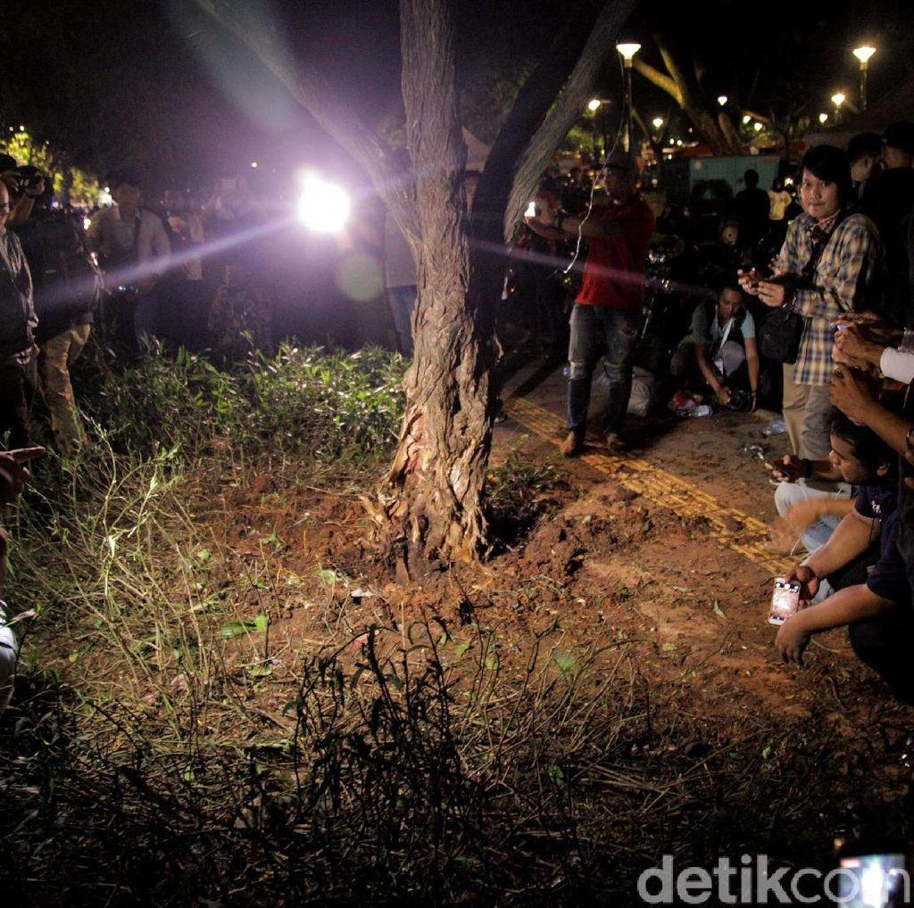 Ini TKP Ledakan Petasan di Parkir Timur Senayan