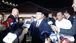 Disambut Harry Tanoe, Prabowo Subianto Tiba di Lokasi Debat