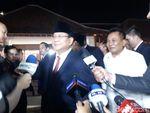 Disambut Hary Tanoe, Prabowo Subianto Tiba di Lokasi Debat