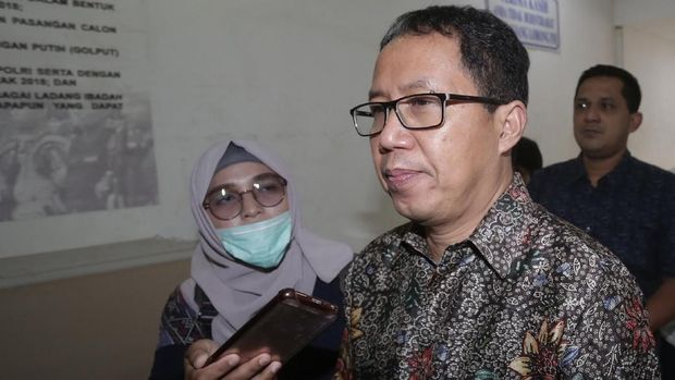 Joko Driyono menjalani pemeriksaan sekitar 20 jam di Mapolda Metro Jaya.