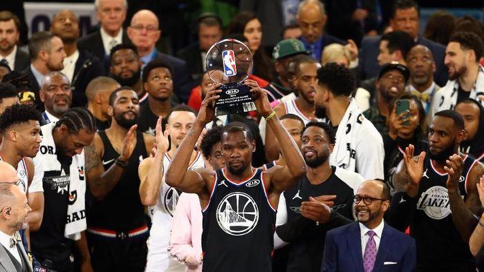 Kevin Durant jadi MVP NBA All Star 2019. (Foto: Jeremy Brevard-USA TODAY Sports/REUTERS)