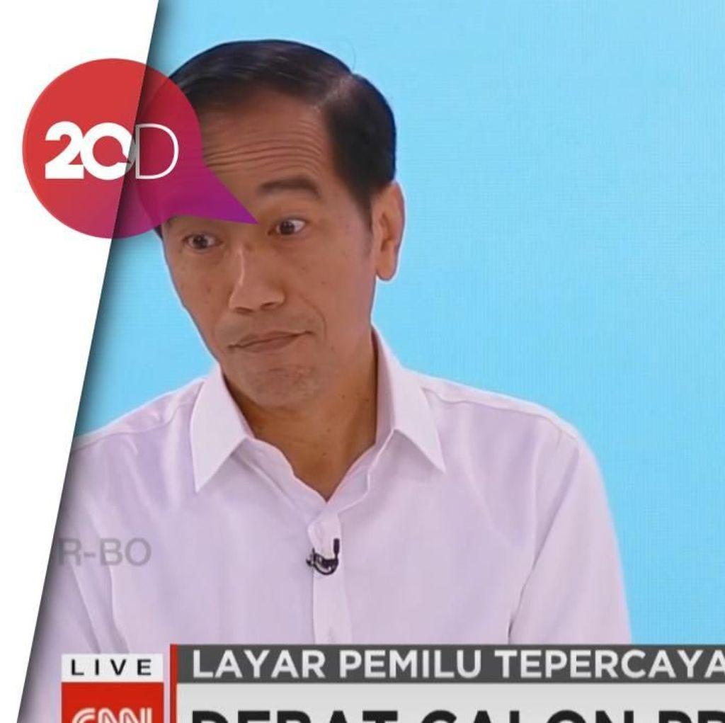 Penampakan Ekspresi Jokowi Saat Diserang Soal Infrastruktur