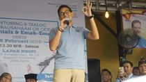 Sandiaga: Lahan Prabowo di Aceh Digunakan Aktivis GAM